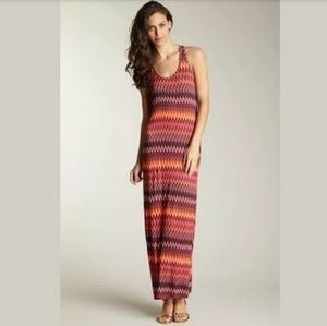 Loveapella Nordstrom Zig Zag Maxi Racerback Dress